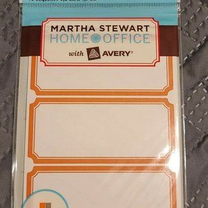 4/$20 Removable Blue Labels - Martha Stewart Avery